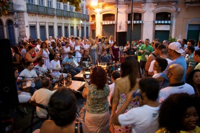 Samba da Ouvidor in der Rua da Mercado am 23. April 2011